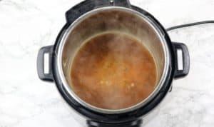 gravy in the instant pot.
