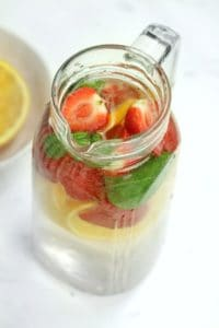 infused water in a pitcher