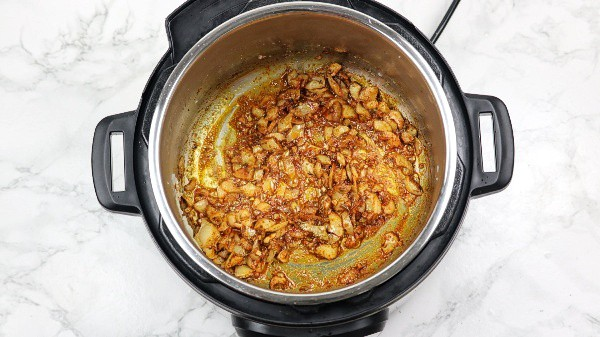 spices added in the sauteed onions pot.